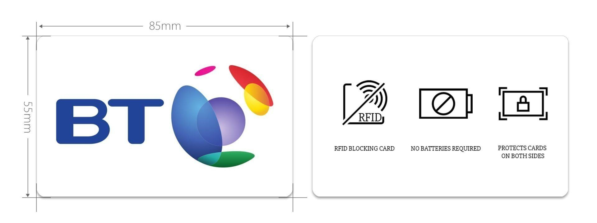 custom rfid blocking card example